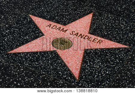 Adam Sandler Star On The Hollwyood Walk Of Fame