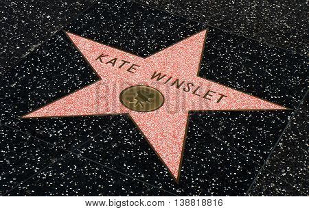 Kate Winslet Star On The Hollwyood Walk Of Fame