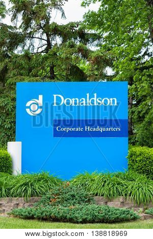 Donaldson Company Headquarters Exterior And Logo