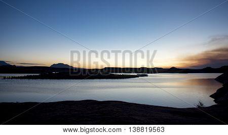 Sunrise over Lake Powell in Southern Utah