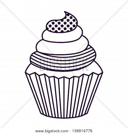 patriotic cupcake  isolated icon design, vector illustration  graphic