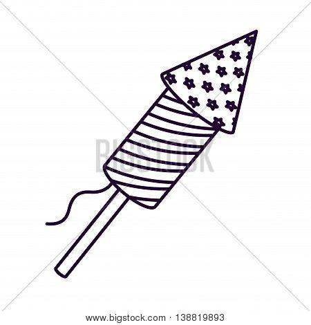 patriotic fireworks isolated icon design, vector illustration  graphic