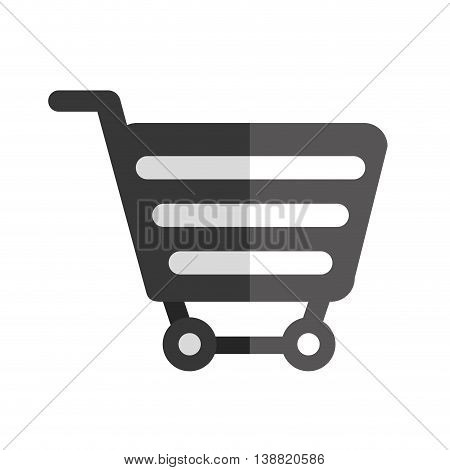 shopping cart colorful object icon vector illustration
