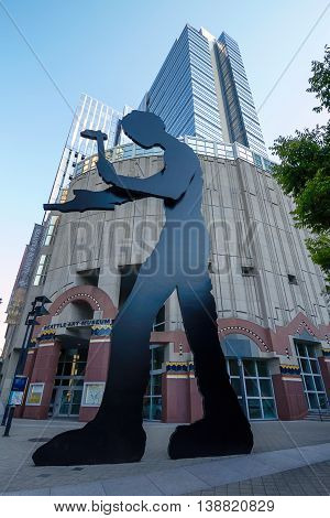 SEATTLE WASHINGTON USA - SEPTEMBER 9 2011: Artwork of