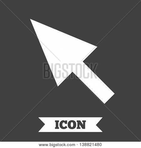 Mouse cursor sign icon. Pointer symbol. Graphic design element. Flat cursor symbol on dark background. Vector