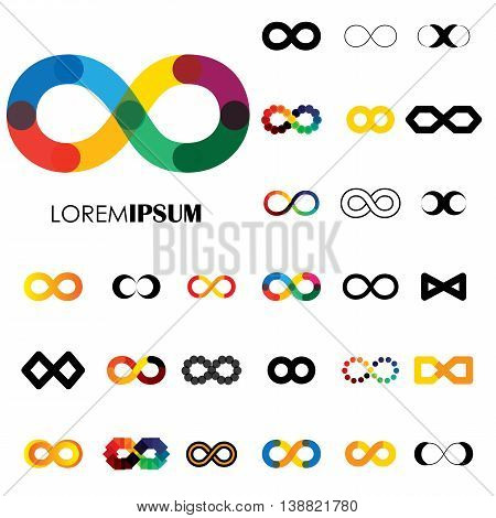 Collection Of Infinity Symbols - Vector Logo Icons