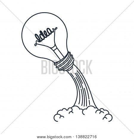 idea launcher  bulb isolated icon design, vector illustration  graphic