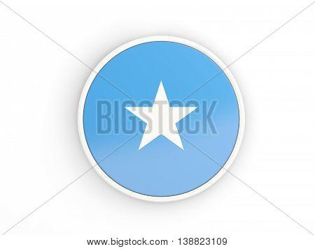 Flag Of Somalia. Round Icon With Frame