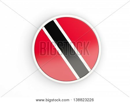 Flag Of Trinidad And Tobago. Round Icon With Frame