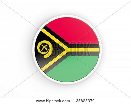 Flag Of Vanuatu. Round Icon With Frame
