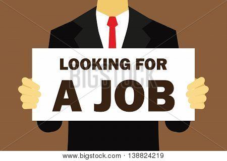 looking for a job vector illustration flat design