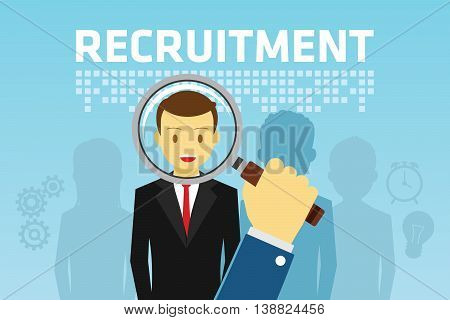 Recruitment for Employment vector illustration flat design