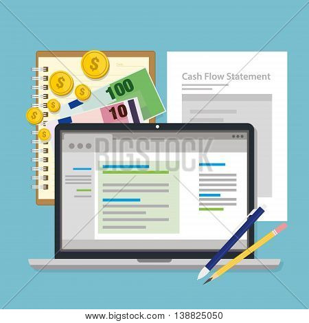 cash flow management vector illustration flat design