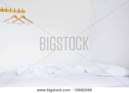 Pillows And Bed In Empty  Bedroom