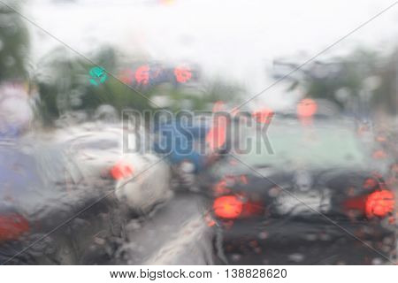 Traffic,traffic jam,Traffic Jam background,Traffic Jam background blur,Traffic background,Traffic background blur,Rain