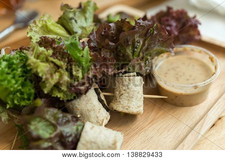 Sandwich Roll Of Bread Wheat To Good Health.