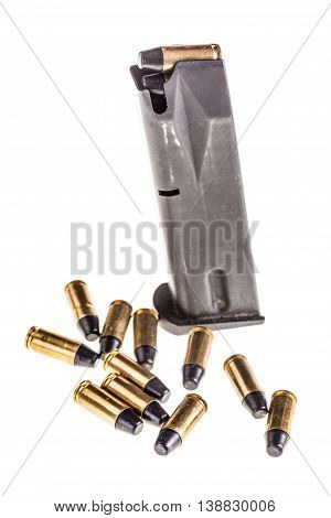 Pistol Magazine With Cartridges