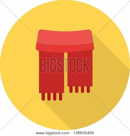 Scarf, head, warm icon vector image. Can also be used for seasons. Suitable for use on web apps, mobile apps and print media.