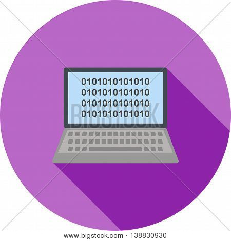 Code, binary, digital icon vector image. Can also be used for data sharing. Suitable for mobile apps, web apps and print media.