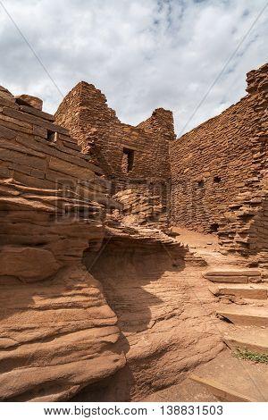 Wukoki pueblo ruin in Wupatki National Monument near Flagstaff Arizona.