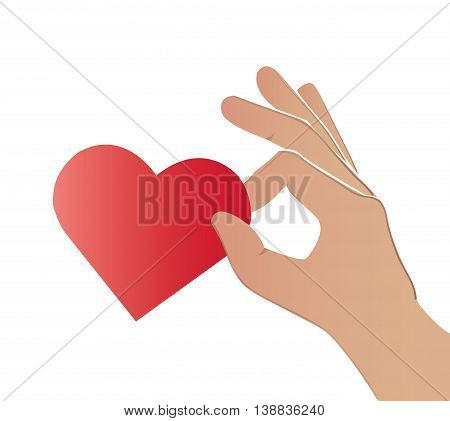 Hands Pick The Heart Color