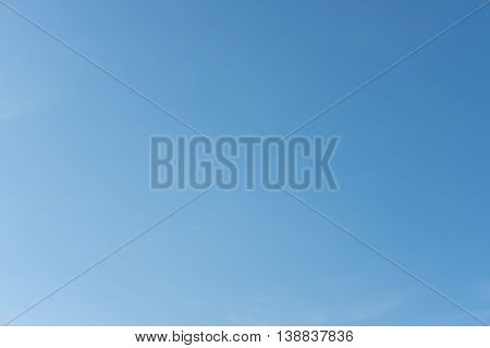 Gradient blue sky, soft color abstract background