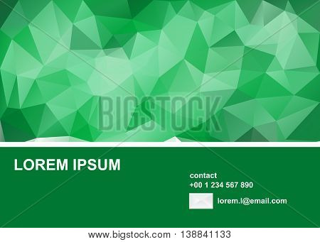 Polygons background for business cards, brochure or flayer.