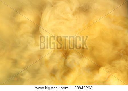 Turbid water and smoke effect. Computer collage