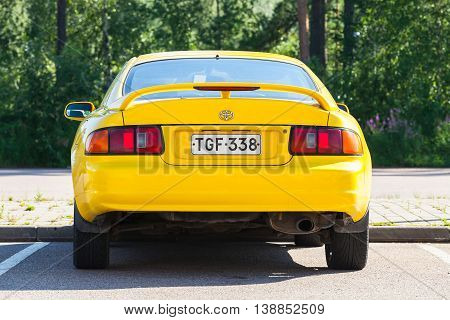 Yellow Facelift Toyota Celica Gt Car
