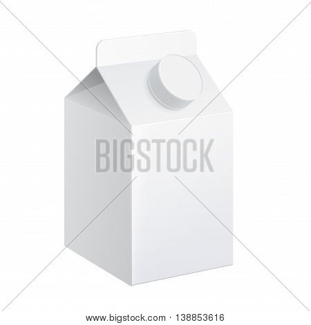 Realistic carton of milk. carton package. vector illustration.