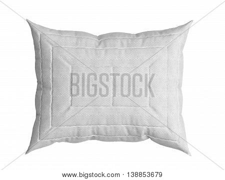 white pillow 3d illustration on white backgrownd