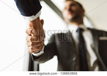 Deal Businessmen Handshake Partnership Concept