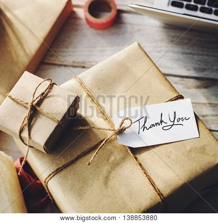 Gift Rapping Parcel Professional Concept