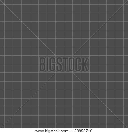 Seamless (repeatable) line art checked pattern background of two flat shades gray chalkboard colors