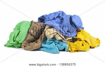 Clothes isolated on a white background