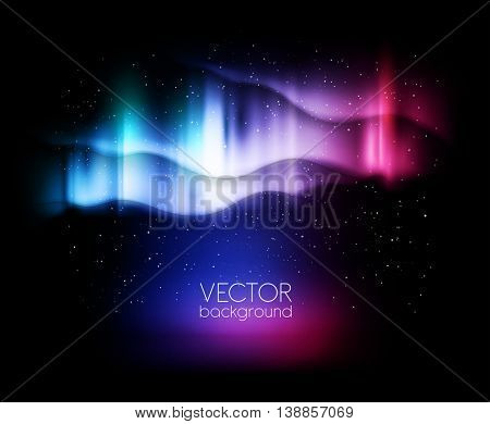 abstract background northern lights - vector illustration