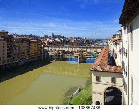 Italy . Florence . Bridge Ponte Vecchio