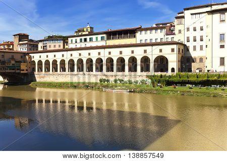 Italy. Florence. Gallery near Ponte Vecchio Bridge
