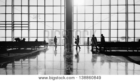 International Airport Passenger People Traveling Concept
