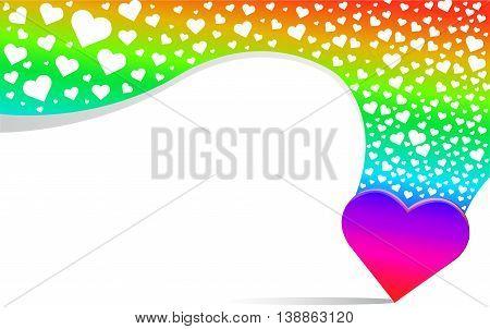 Red Heart In Heart  Bg