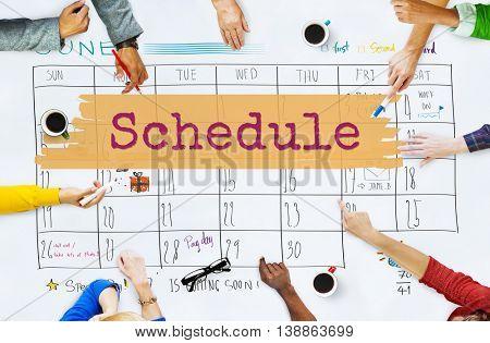 Schedule Agenda Planner Reminder Calendar To Do Concept
