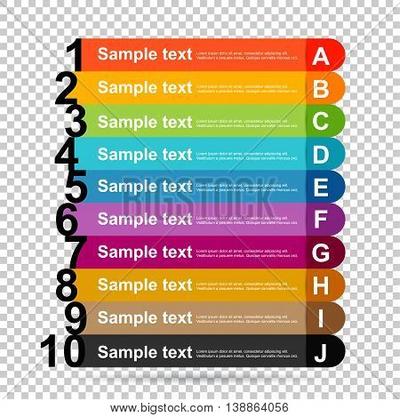 infographics options banner. Vector illustration. can be used for workflow layout, diagram, number options, web design