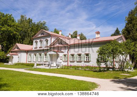 Moscow region, village Abramtsevo - JULY 17, 2016: Homesteads Abramtsevo - State Historical Artistic and Literary Museum-Reserve.