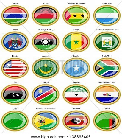Flags Of The Africa.