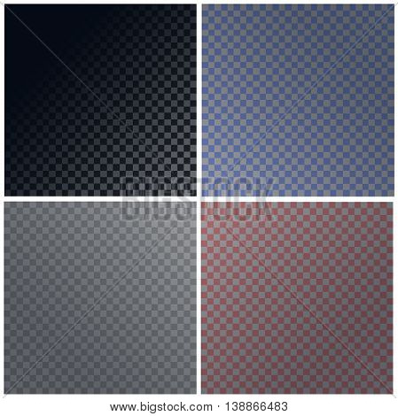 Set of vector transparent backgrounds grayscale and colors for your artwork and projects. Eps10