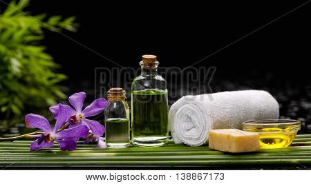 Spa setting-black background