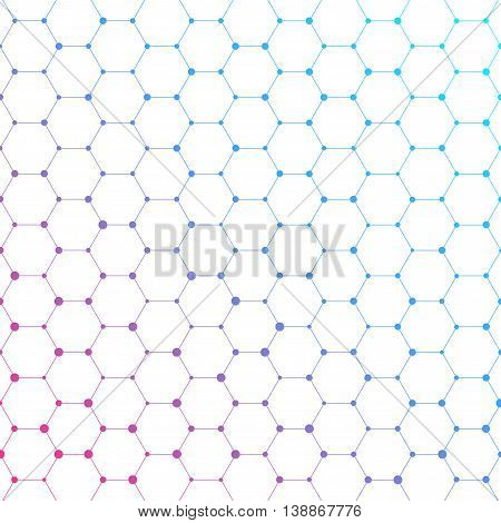 Connection structure. Structure molecule of DNA and neurons. Abstract background. Medicine, science and technology. Vector illustration for your design