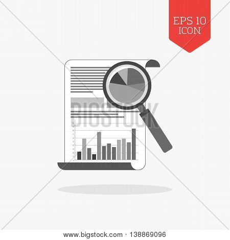 Analyzing Statistics Concept Icon. Flat Design Gray Color Symbol. Modern Ui Web Navigation, Sign.