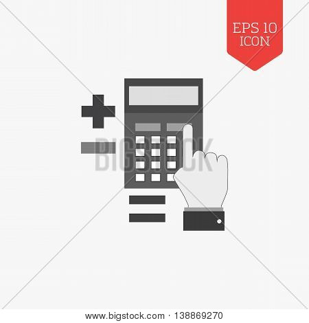 Calculation Concept Icon. Flat Design Gray Color Symbol. Modern Ui Web Navigation, Sign.
