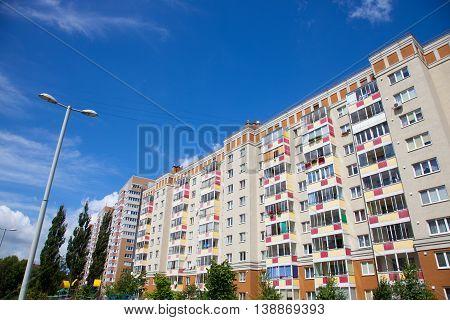 Part of the Apartment Buildings Kaliningrad (Russia).